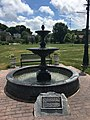 Memorial fountain in Talleyrand Park in Bellefonte, Pennsylvania.jpg