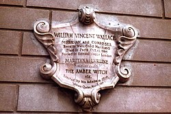 Photo of William Vincent Wallace stone plaque