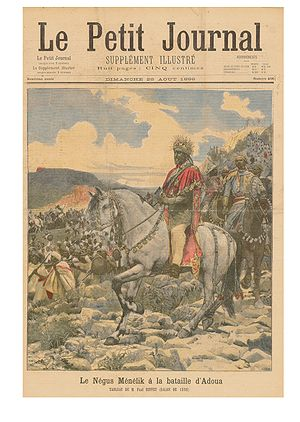 1896 in Italy - Menelik II at the battle of Adwa