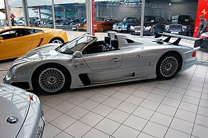 Mercedes-Benz CLK GTR - The third Mercedes-Benz CLK GTR Roadster built, on display.