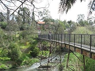 Westgarth, Victoria - The Merri Footbridge over the Merri Creek, Westgarth/Fitzroy North