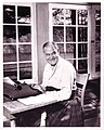 Merrill Denison at Typewriter - Bon Echo (21989510462).jpg