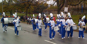 Mergenthaler Vocational-Technical High School - Mervo drumline at the 2008 Morgan State University Homecoming Parade.