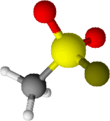 3D diagram of Methanesulfonyl fluoride molecule