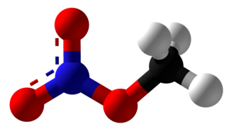 Methyl nitrate - Image: Methyl Nitrate Ball and Stick