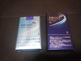 Mevius brand of cigarette