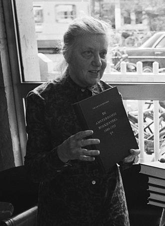 Isabella Henriette van Eeghen - Image: Mevr. drs. I. H. van Eeghen op 4 oktober 1978