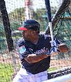 Michael Bourn takes live batting practice (25278891125).jpg