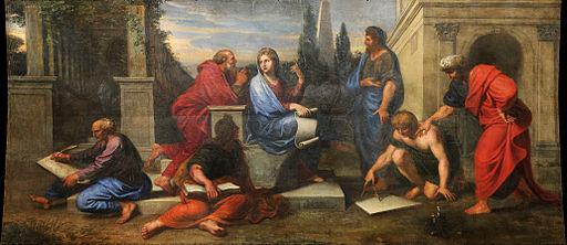 Michel II Corneille - Aspasie au milieu des philosophes de la Grèce - Google Art Project