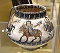 Minai-ware cup, Iran, Kashan, c. 1175-1200, painted and glazed stoneware - Royal Ontario Museum - DSC04576.JPG