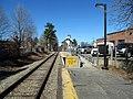 Mini-high platform at Needham Center station, March 2016.JPG