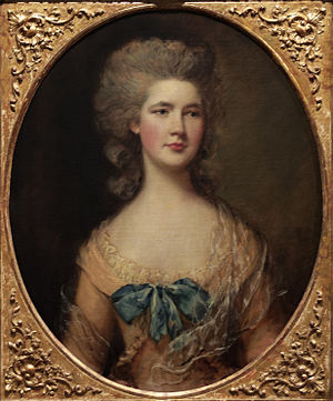 Sir Charles Cotton, 5th Baronet - Miss Philadelphia Rowley, Thomas Gainsborough (ca 1783)