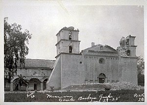 1925 Santa Barbara earthquake - Mission Santa Barbara damaged by the earthquake