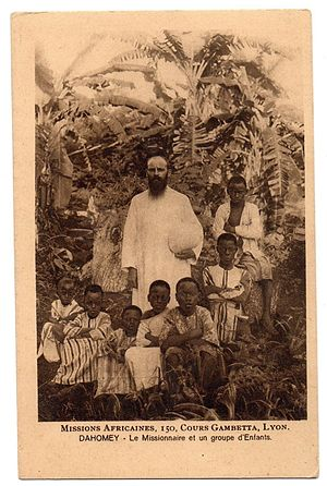 Society of African Missions - French missionary from the Society of African Missions in Dahomey (1930).
