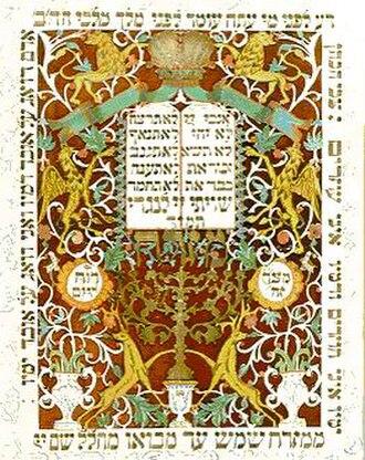 Papercutting - Mizrah papercut, Eastern Europe, 19th century