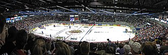 Moncton Coliseum - Interior shot of the Moncton Coliseum during a sold out Moncton Wildcats President's Cup game against the Saint John Sea Dogs in 2010.