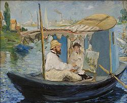 Édouard Manet: Claude Monet peignant dans son atelier
