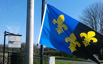 Flag of Monmouthshire - Image: Mons flag at Llansantffraed
