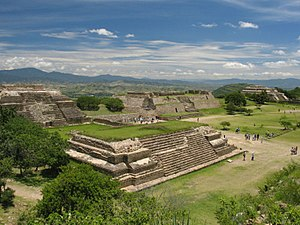 Architecture of Mexico - Monte Albán, acropolis of the central valleys of Oaxaca.