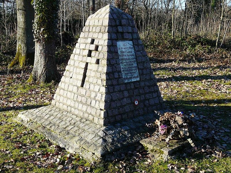 Monument à la mémoire de deux policiers tués en 1944