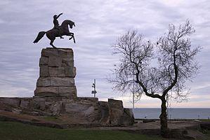 Equestrian monument to Jose de San Martin, Chica Beach, Mar del Plata, Argentina