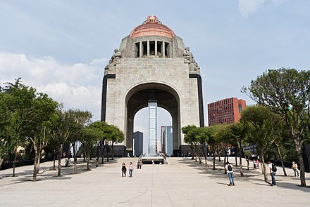 Monument to the Revolution, where Cardenas is buried along with revolutionary leaders. Monumento a la Revolucion Mexico.jpg
