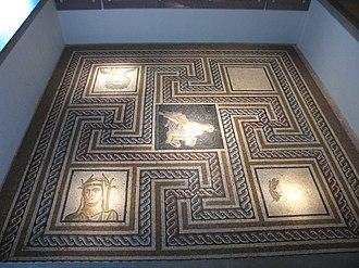 Gallo-Roman Museum of Lyon-Fourvière - Image: Mosaique Bacchus