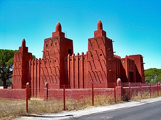 Islam in France - A Mosque in Fréjus with West African architecture.