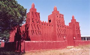 Missiri(mosque in bambara language) Mosquee in Fréjus. Replica of Great Mosque of Djenné.