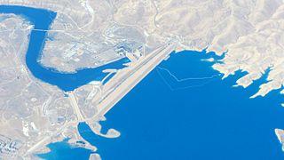 Mosul Dam Dam in 45 mi north of Mosul, Nineveh Governorate, Iraq