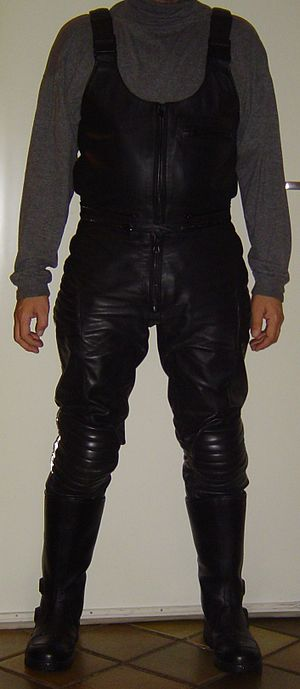 Overall - Salopettes for a motorcycle driver.