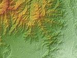 Mount Ōyama (Kanagawa) Relief Map, SRTM-1.jpg