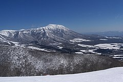 Mount Iwate and Mount Kurakake from Shizukuishi Ski Area.jpg