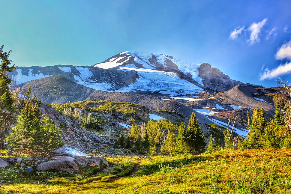 Mt. Adams from Bird Creek Meadows 02