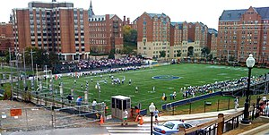 Georgetown Hoyas - Georgetown football plays its home games on Cooper Field on their main campus.