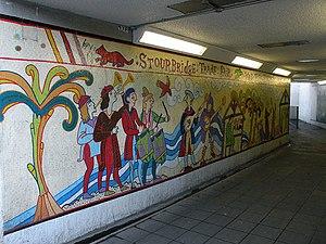 Stourbridge fair - Mural in the Elizabeth Way underpass commemorating Stourbridge Fair