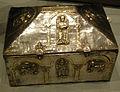 Museo diocesano nonantola, reliquiario a cofanetto dei santi senesio e teopompo, fine XII- XIII sec 01.JPG