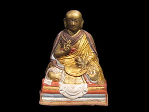Buddhism in Mongolia - Statuette of Zanabazar, one of the most influential tulkus of Mongolia