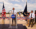 NASA Administrator, Charles Bolden, addresses crowd on STS-135 landing site.jpg