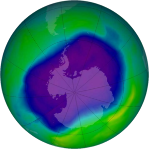 Total Ozone Mapping Spectrometer - Image: NASA and NOAA Announce Ozone Hole is a Double Record Breaker