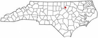 Franklinton, North Carolina - Image: NC Map doton Franklinton