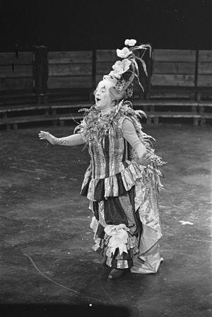 Michel Sénéchal - Opera Platée from composer Jean Philippe Rameau staged in Carré (Amsterdam, 1968). Platée (Michel Senechal) in his costume