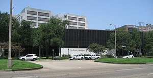 New Orleans Public Library - Main Branch, New Orleans Public Library, on Loyola Avenue.