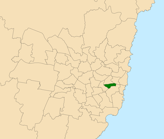 Electoral district of Newtown - Location within Sydney