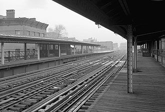 156th Street (IRT Third Avenue Line) - 156th Street station after abandonment, in January 1974.