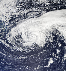Nadine in a weakened state after passing south of the Azores on September 20.