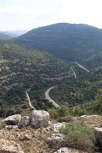Nahal Sorek - View of Nahal Sorek