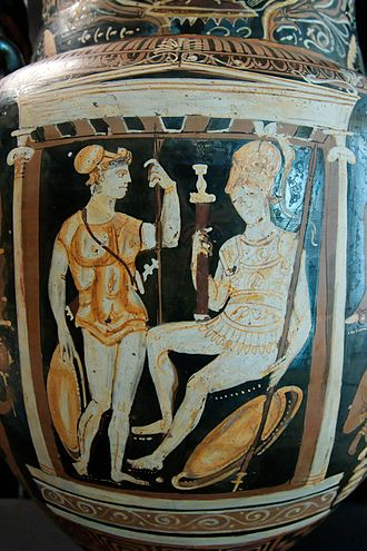 Muscle cuirass - Muscle cuirasses on a vase from Apulia (c. 325 BC)