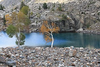 Naltar lakes - Image: Naltar Blue lake Gilgit