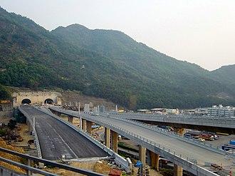 Nam Wan Tunnel - Nam Wan Tunnel under construction in 2006.